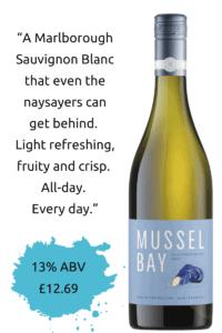 mussel bay sauvignon blanc infographic